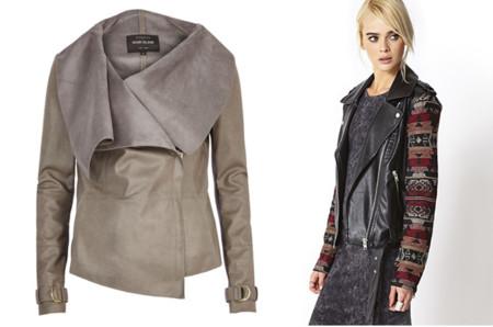 Claves de moda para ir de shopping cazadora de cuero gris tribal