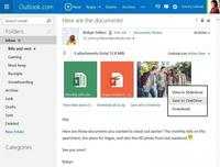 Ya puedes guardar directamente a OneDrive documentos desde Outlook.com