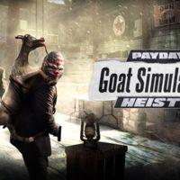 El nuevo DLC de Payday 2 es... ¿Un crossover con Goat Simulator?