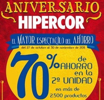 Vuelve la segunda unidad al 70% de descuento en Hipercor