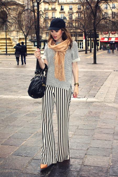 Rayas moda pantalón