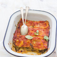 Receta de lasaña de berenjenas. Hoy comemos vegetariano