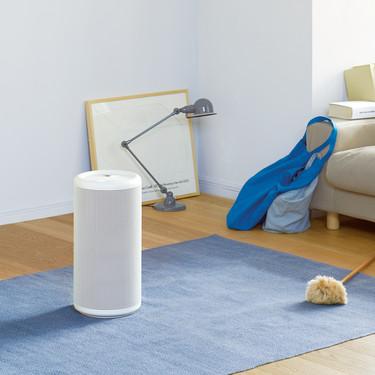 Renovar y limpiar el aire de cualquier espacio es más sencillo con este purificador portátil de Muji