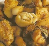 Alcachofas con sepia