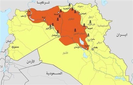 Mapa ISIS 2006