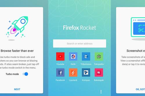 No te pierdas Firefox Rocket, la versión mini con bloqueo de publicidad, ahorro de datos y más