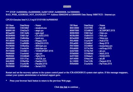 Error 404 Pantallazo