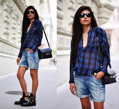 Balenciaga cuadros look blogger
