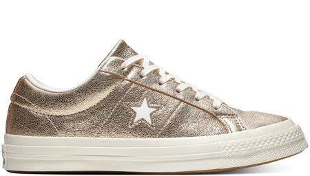 One Star Metallic Leather Low Top
