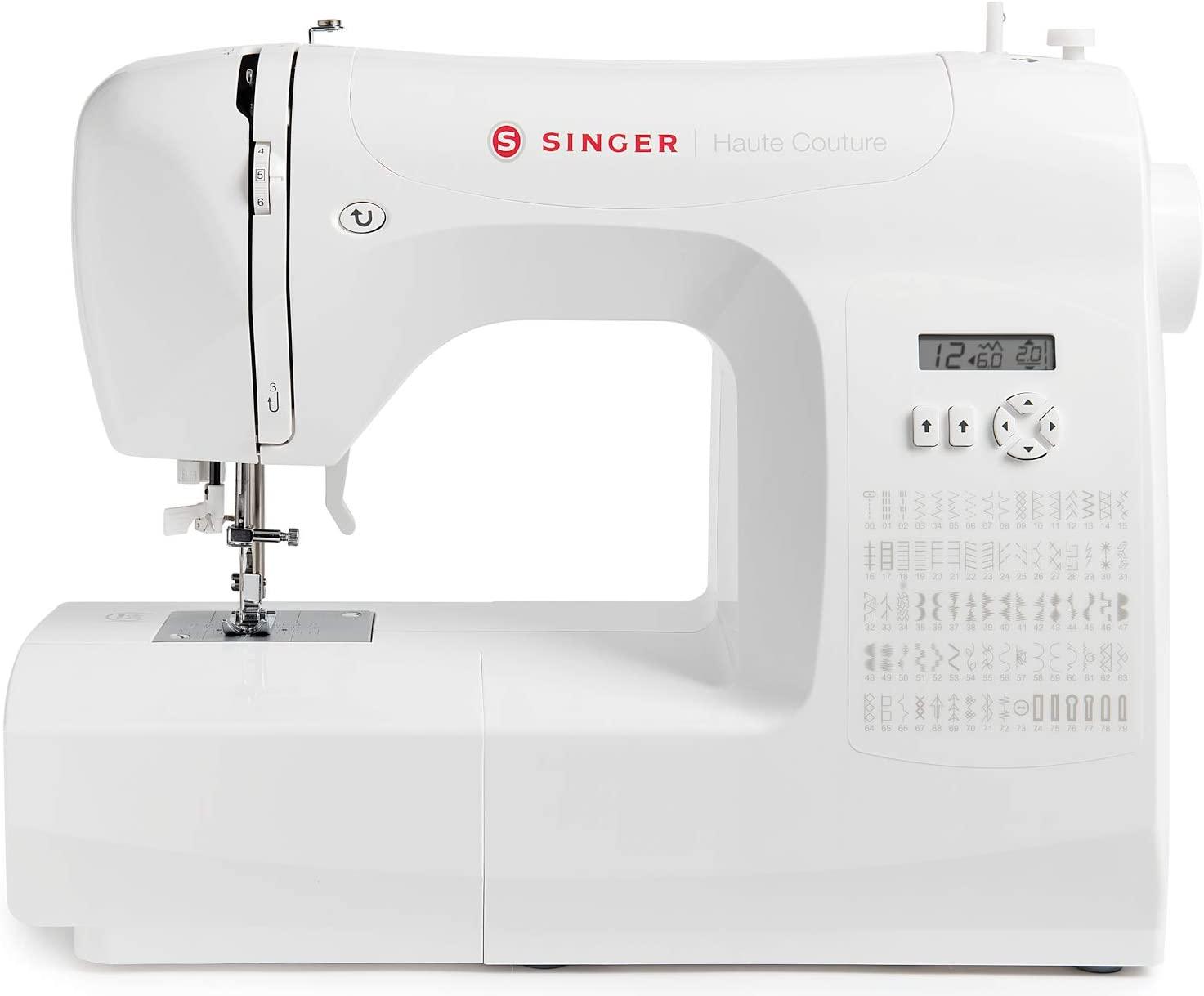 Singer Haute Couture - Máquina de coser electrónica de edición exclusiva, 80 puntos de costura, portátil, eléctrica, profesional, automática, costura creativa, fácil para principiantes