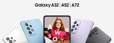 Galaxy A32, A52 y A72 llegan a México: 90 Hz y cuatro cámaras para la gama media más popular de Samsung, lanzamiento y precio oficial