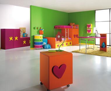 Muebles para la habitación de los niños de Ágatha Ruiz de la Prada