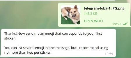 Telegram Stickers Subir Archivo