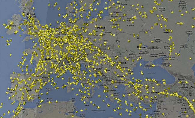 Flighradar Aviones