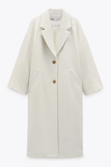 Abrigo confeccionado con tejido en mezcla de lana