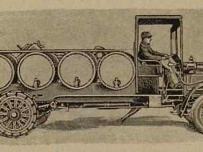 Cuando conducir coches sin raíles era temerario y los camiones se veían como los únicos automóviles útiles