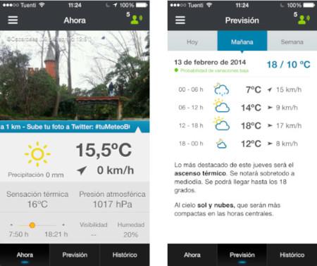 Tumeteo, información detallada del tiempo para Madrid y Barcelona desde tu iPhone