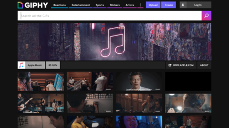 Apple abre canal oficial en GIPHY para anunciar contenido exclusivo de Apple Music