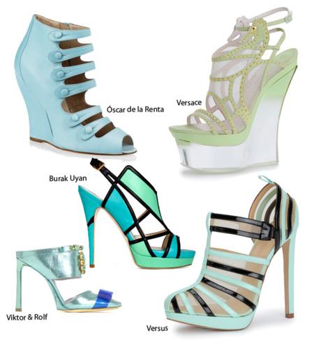 Pastel sandalia