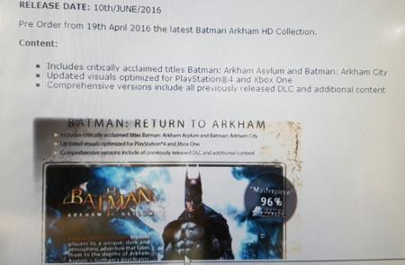 Batman Arkham Hd Collection Ps4