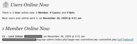 WP-UserOnline, plugin de Wordpress para ver el tráfico de tu blog en tiempo real