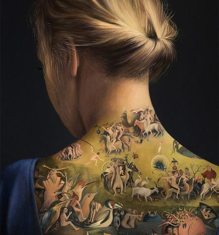El tatuaje más impresionante que hemos visto no es en realidad un tatuaje, sino una obra de arte dentro de otra