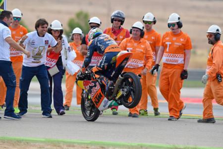 Brad Binder Celebrating Moto3 Title 2016