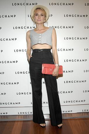 El look de Diane Kruger en el 60 aniversario de Longchamp