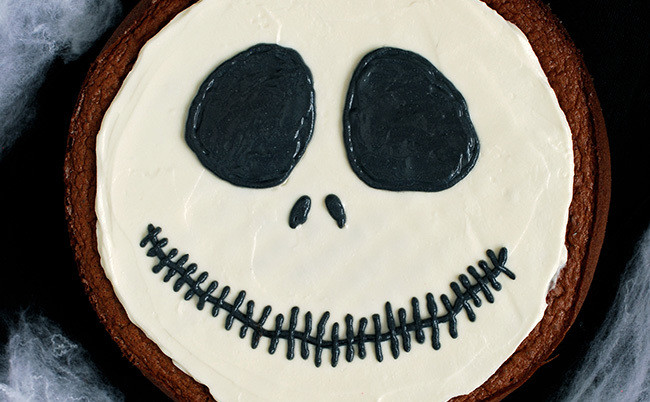 Tarta de chocolate Jack Skellington. Receta de Halloween