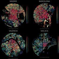 Descarga gratis para imprimir estos espectaculares mapas de Madrid, Barcelona, Valencia o Málaga o haz el de tu ciudad
