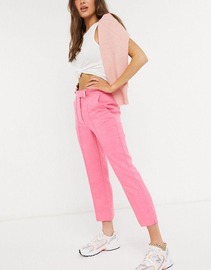 Pantalones capri rosas