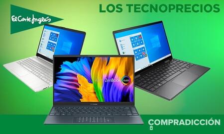 9 portátiles de trabajo de ASUS, HP y Lenovo rebajados hasta en un 15% en los Tecnoprecios de El Corte Inglés
