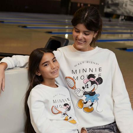 Kiabi Sudadera Blanca Minnie Nina Y Mujer Pvp 15eur