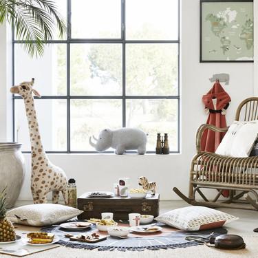 Animales, lunares y cálidos tonos pastel entre las novedades de H&M en deco infantil para primavera