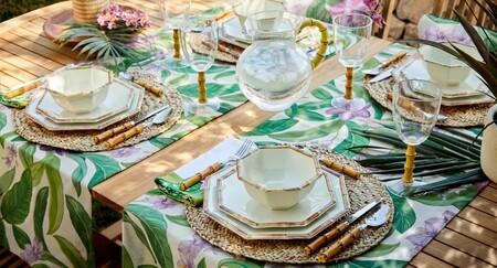 Comer (o cenar) en la terraza: 15 ideas de El Corte Inglés para poner una mesa tropical