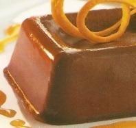 Panna cotta de chocolate a la naranja