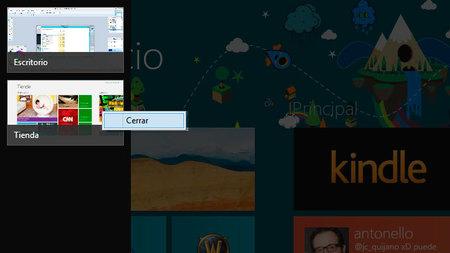 Cerrar una aplicación Windows 8