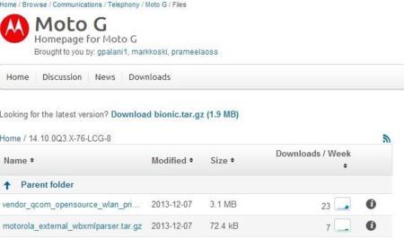 Motorola libera los archivos open source de Moto G