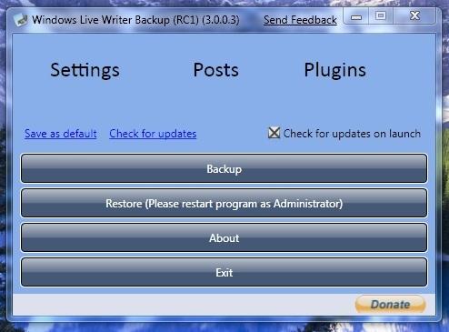 WindowsLiveWriterBackup,respaldalaconfiguracióndeWLWriter