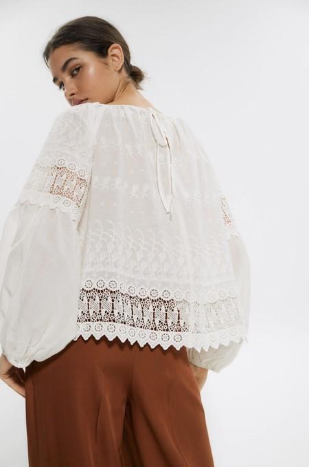 Tops Blusas Blancas Verano 2020 Sfera 07
