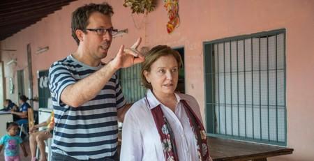 Marcelo Martinessi y Ana Brun durante el rodaje