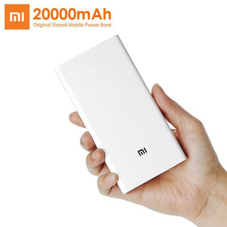 Batería externa Xiaomi Power Bank 2, de 20.000 mAh de capacidad, por 26 euros