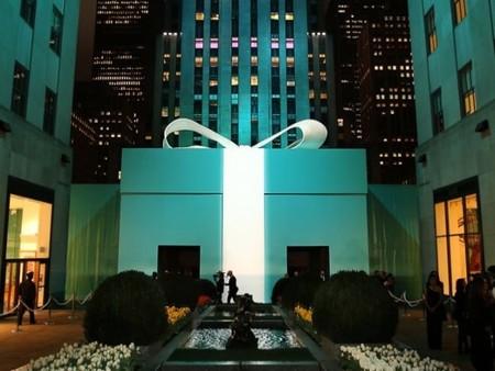 La noche azul de Tiffany& Co en el Rockefeller Center de Nueva York