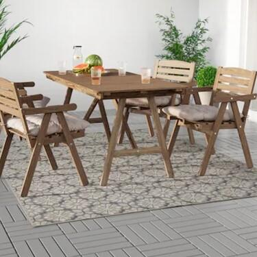 Confort en terrazas y patios: descubre las alfombras de exterior de Ikea