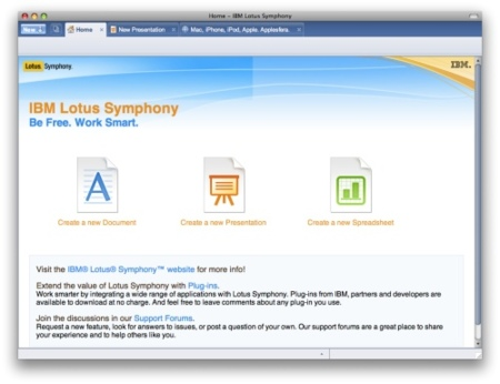 Lotus Symphony 1.2 Beta, ya podemos probar el Office para Mac de IBM