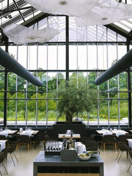 Invernadero convertido en restaurante
