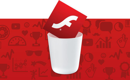 Adobe Flash en la papelera