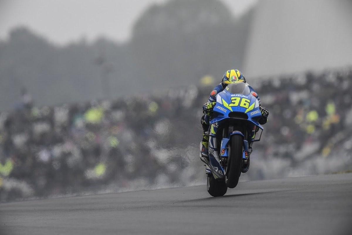 Joan Mir y Karel Abraham se cayeron de la vuelta de calentamiento en la carrera de MotoGP en Le Mans