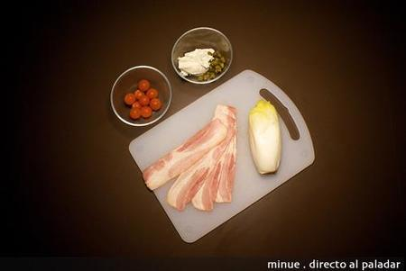 endivias con rollitos de bacon - ingredientes