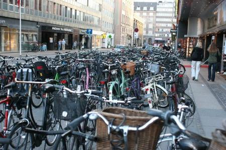 Aparcamiento de Bicicletas en Copenhague